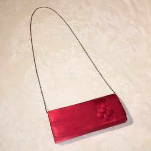Red Clutch with Chain